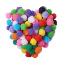 PandaHall Elite 20mm Mixed Multicolor Assorted Pom Poms Balls About 500pcs for DIY Doll Craft Party Decoration