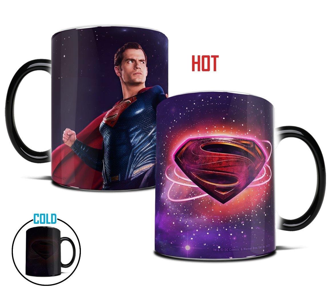 Morphing Mugs Justice League Superman Logo Heat Reveal Ceramic Coffee Mug - 11 Ounces