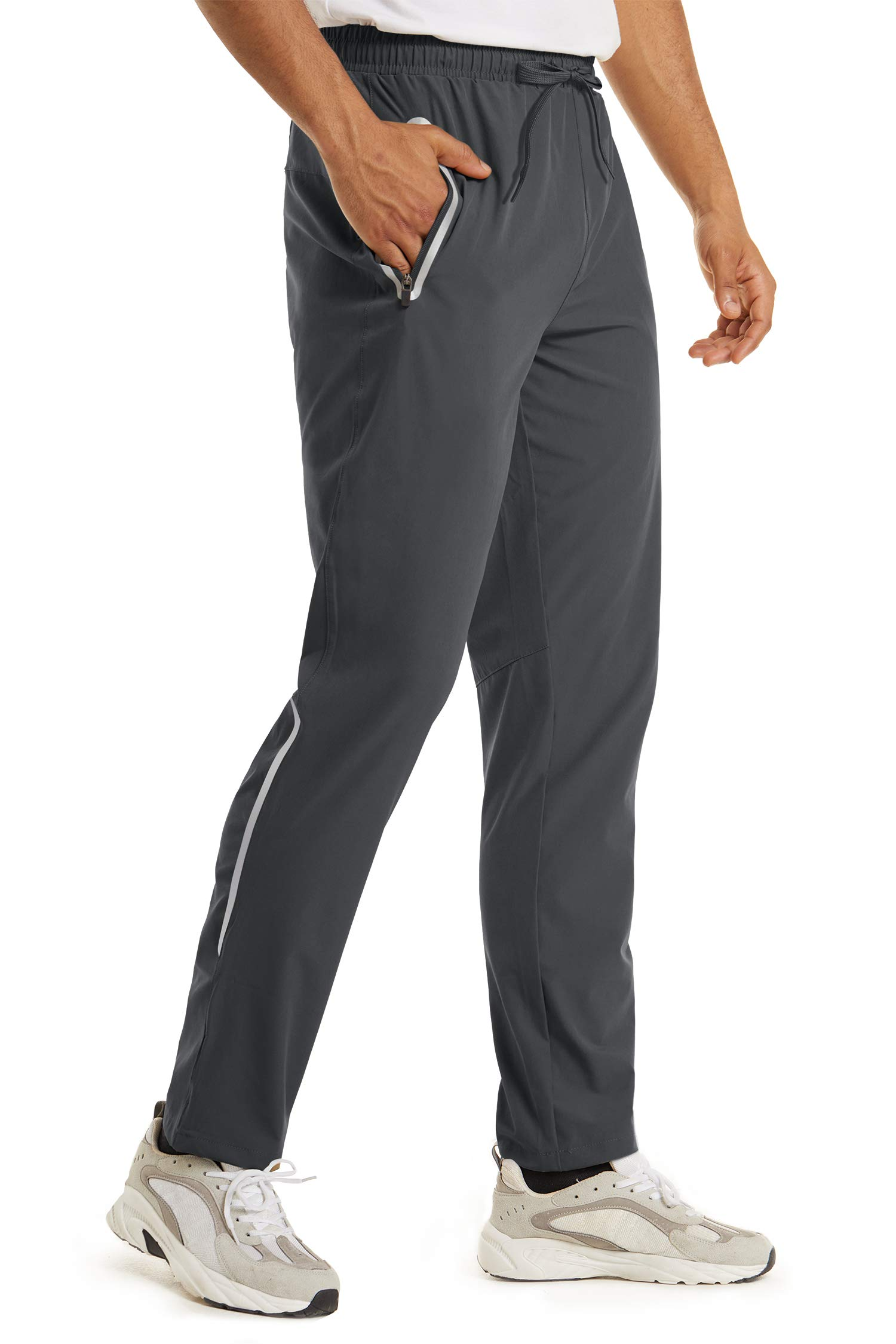 Boladeci Mens Quick Dry Breathable Lightweight Drawstring Athletic Stretch Jogger Pants