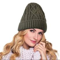 Knit Beanie Hats for Women Men Winter Warm Beanie Hats Soft Lining Thick Knit Skull Cap Acrylic Knit Cuff Beanie Cap