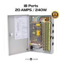 Ares Vision CCTV/LED 12v DC Power Supply Box (18 Port 20 AMP)