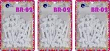 Tara Girls Self Hinge Plastic Bow Hair Barrettes Selection Pack Of 3 (BR02)