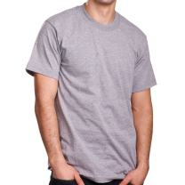Pro 5 Men's Super Heavy Short Sleeve Crew Neck T-Shirt, Heather Grey, 4X-Large Tall
