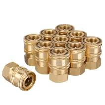 WYNNsky Pressure Washer Quick Connect Coupler, 1/4 Inch NPT Female Threads Size, Brass Material