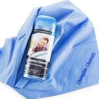 "Champion Chamois Shammy Towel for Car, Boat or Home - 26"" x 17"" - Ultimate Drying Chamois (Blue)"