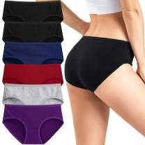 Womens Cotton Underwear Low Rise Briefs Breathable Ladies Hipster panties