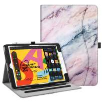 """Fintie Case for New iPad 7th Generation 10.2 Inch 2019 - [Corner Protection] Multi-Angle Viewing Folio Smart Stand Back Cover with Pocket, Pencil Holder, Auto Wake/Sleep for iPad 10.2"""", Marble Pink"""