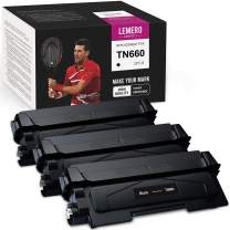 LemeroUexpect Compatible Toner Cartridge Replacement for Brother TN660 TN-660 TN630 for HL-L2380DW MFC-L2700DW HL-L2360DW HL-L2340DW MFC-L2740DW DCP-L2540DW HL-L2320D HL-L2300D MFC-L2685DW (Black, 3P)