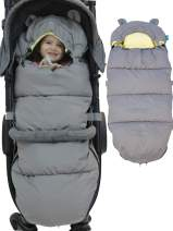 Stroller Trotter - Luxury Stroller footmuff Inner Velvet Layer for Comfort, Stroller Sleeping Bag with Non Skid Adjustable Fixing Elements for Toddler and Baby Bunting