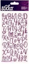 Sticko Sweetheart Pink Script Alphabet Sticker (.1-Pack (Glitter Pink))