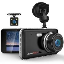 AUTOSOCT Dual Dash Cam 4.0 Inch LCD Screen 1080P FHD Front and Rear Camera, Car Driving Recorder with IR Sensor Night Vision, Motion Detection, G-Sensor, 170°Wide Angle and Parking Monitor