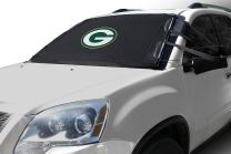 NFL Frost Guard Windshield Cover for Ice and Snow, Green Bay Packers| Standard Size Car Windshield Cover, Black | Fits Most Compact Cars, Sedans, Small Trucks, SUVs – 60 x 40 Inches