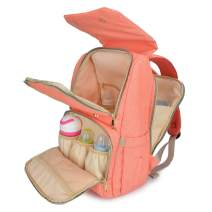 Qimiaobaby diaper bags backpack, multi-function baby Nappy storage bag