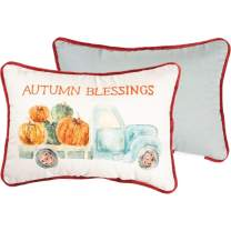 Primitives by Kathy Embroidered Watercolor Art-Inspired Throw Pillow, 14 x 10-Inch, Autumn Blessings