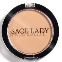 SACE LADY Pro Matte Face Pressed Powder,Lightweight Oil Free Long Lasting Flawless Look, Non-Cakey and Cruelty-Free (02. Natural Buff)