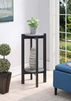 Convenience Concepts Newport Deluxe Plant Stand, Faux Cement / Weathered Gray