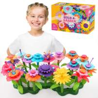 Jellydog Toy Flower Garden Building Toys,Build a Bouquet Floral Arrangement Playset for Toddler Girls 3 Year, Creative Arts and Crafts Educational Kids Toy Set,109 PCS