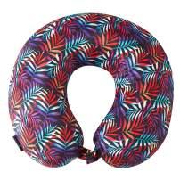 Bon Voyage Beach Themed Memory Foam Travel Neck Pillow | Flamingo | Mermaid Tail | Midnight Jungle| Pineapple | Sea Life | Shell | Starfish | Turtle | Water (Midnight Jungle 2)