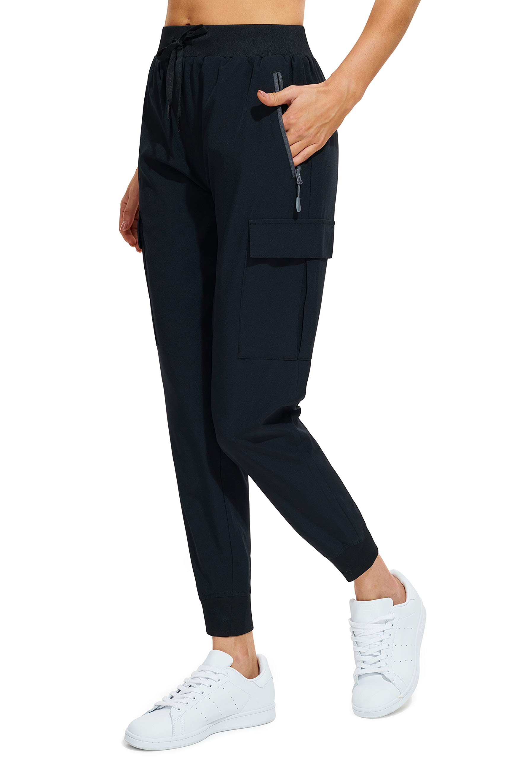 MASKERT Women's Cargo Joggers Quick Dry Lightweight Hiking Pants with Pockets for Lounge Workout Outdoor Athletic