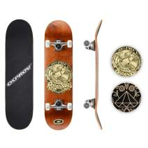 Osprey Professional Skateboards for Beginners - 31 Inch Double Kick Concave Adult Skateboard with 7 Layer Canadian Maple Deck – 220lbs Max User Weight– Multiple Designs