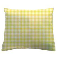 SheetWorld - Toddler Pillowcase Hypoallergenic Made in USA - Primary Gingham Collection - Yellow 13 x 17