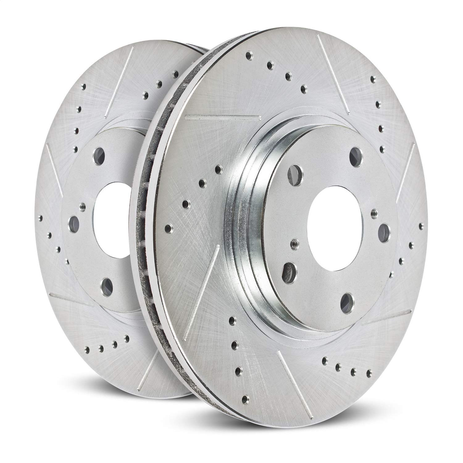 Power Stop AR83078XPR Front Evolution Drilled & Slotted Rotor Pair