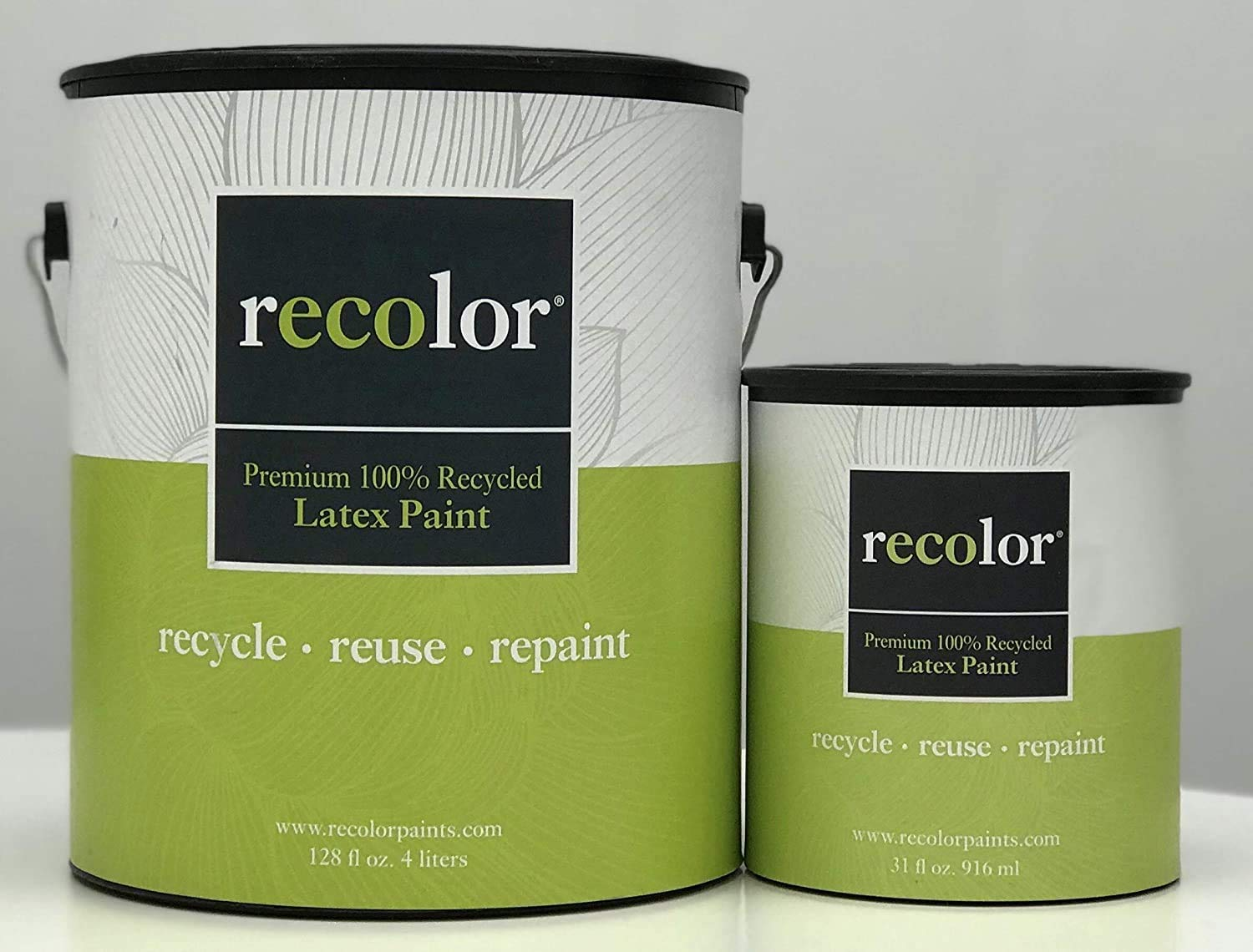 RECOLOR Paint 100% Recycled Interior Latex Paint Wall Finish, 1 Gallon, Interior - Canvas