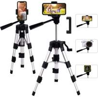 Mini Tripod 20 inches for Camera, papasbox Portable Desktop Aluminum Alloy Tripod with 3-Way Swivel Pan Head 1/4 inch Release Plate Mount for Camera, Smartphones, Ring Light Tabletop Tripod