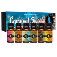 Carnival Sweets - Gift Set of 6 Premium Fragrance Oils - Candy Corn, Salted Caramel Pumpkin, Candy Concoction, Summer Boardwalk, Spiced Caramel Pear and Maple Pecan - Eternal Essence Oils