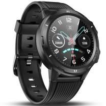 Vigorun Smart Watch Fitness Tracker with Heart Rate Monitor, 1.3'' Full Touch Screen Sleep Tracker, Pedometer, 14 Days Battery Life, 5ATM Waterproof Fitness Watch Activity Tracker for Mem Women Black