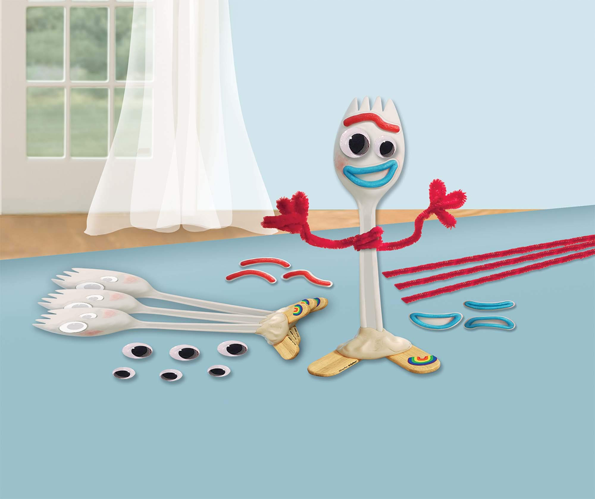 """Amscan""""Toy Story 4"""" Forky Party Craft Kits, 24 Pc, 3900975"""