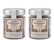 Giuseppe Giusti - Sale Bianco Di Sicilia - Gourmet White Sicilian Sea Salt Infused with Balsamic Vinegar Imported from Giusti in Modena, Italy - Unique Italian Gift for Chefs, Cooks & Foodies (2 pack)