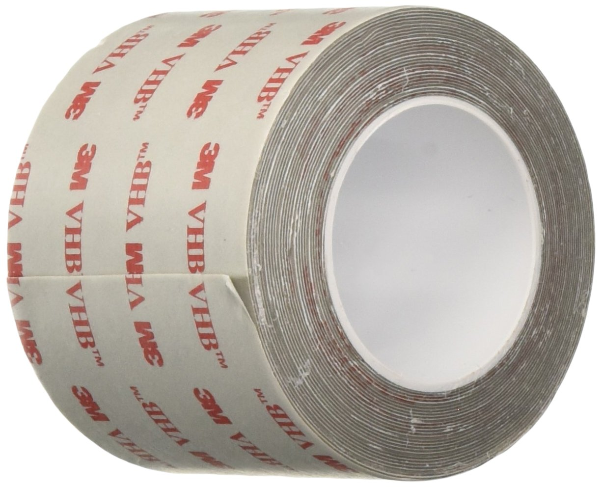 3M VHB Tape 4926, 4 in Width x 5 yd Length (1 Roll)