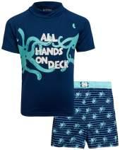 Mick Mack Baby Boys 2-Piece Rash Guard and Trunk Swimsuit Set (Infant, Toddler & Little Boys)