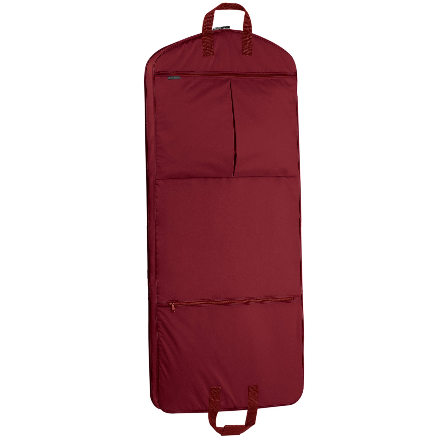 """WallyBags 52"""" Dress Length Garment Bag with Pockets, Red"""