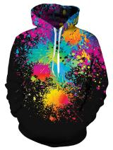 uideazone Unisex 3D Relistic Printed Hoodies for Men Women Cool Graphic Hooded Sweatshirt