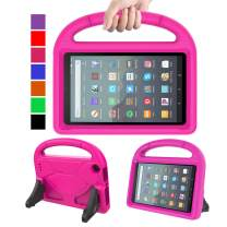 """MENZO Kids Case for All-New Fire 7 Tablet (9th Generation - 2019 Release), Light Weight Shockproof Handle Stand Kids Friendly Case for Amazon Fire 7 2019 and 2017 (7"""" Display), Rose"""
