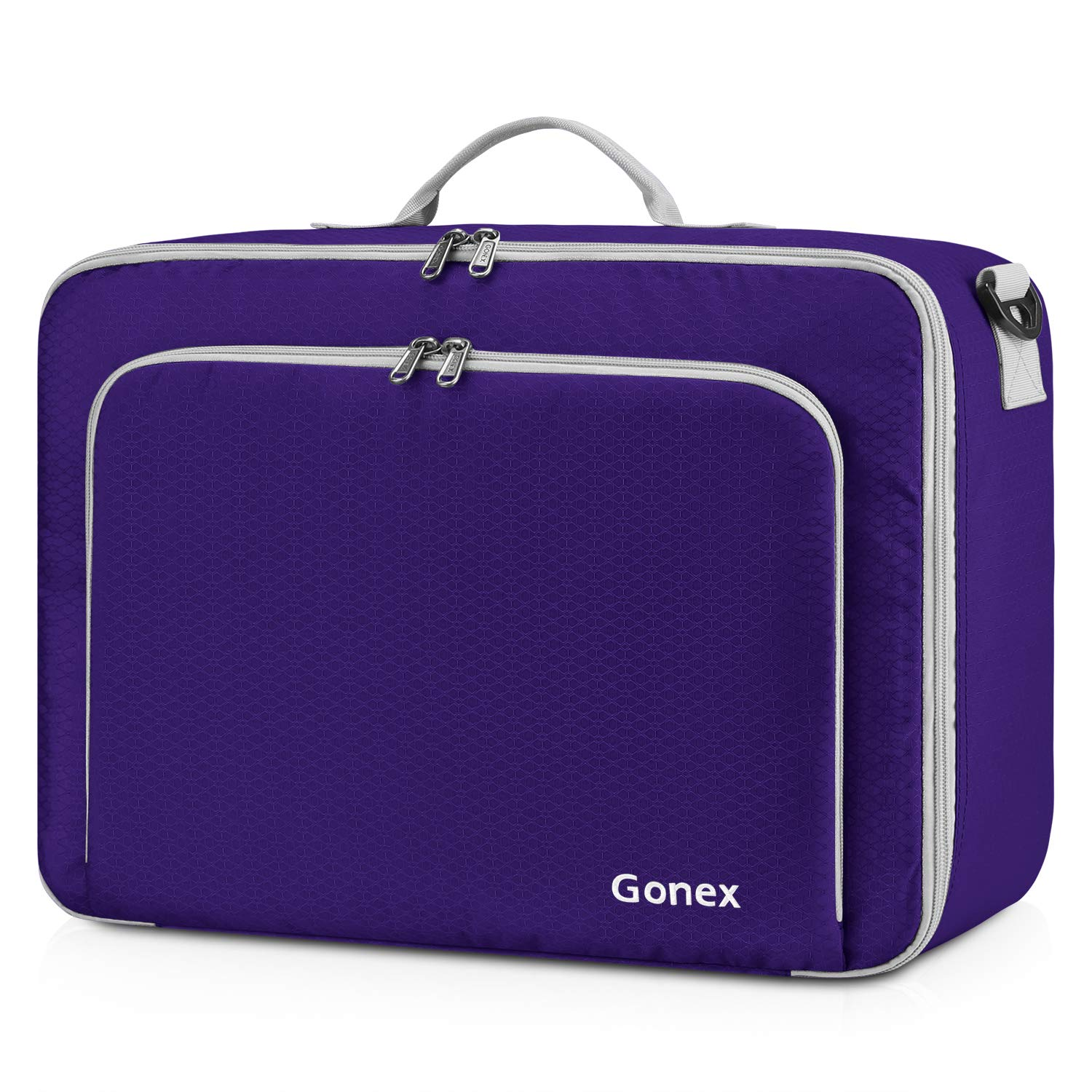 Gonex Travel Duffel Bag, Portable Carry on Luggage Personal Item Bag for Airlines, Water& Tear-Resistant 20L Purple