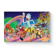 """HAOSHUNDA HSD Wall Art Rick and Morty Posters On Canvas Oil Painting Posters and Prints Decorations Wall Art Picture Living Room Wall Ready to Hang 12"""" x 18"""" 16"""" x 24"""" (16""""x24""""x1, Artwork-21)"""