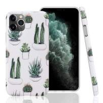 GOLINK Case for iPhone 11 Pro,Floral Series Slim-Fit Ultra-Thin Anti-Scratch Shock Proof Dust Proof Anti-Finger Print TPU Gel Case for iPhone XI Pro 5.8 inch(2019 Release)-Cactus