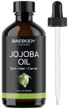 Baebody Natural Jojoba Oil for Hair, Skin, Nails & Body, 4 Ounces