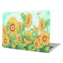MacBook Air 13 Inch Case, Funut Matte Rubber Coated Soft Touch Plastic Hard Case Shell Fashion Style for MacBook Air 13.3 Inch A1466 A1369, Sunflower