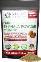 Blue Lily Organics Triphala Powder 1 Pound (16 Oz) Digestive Support, Daily Detoxification
