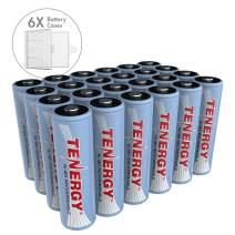 Tenergy NiMH AA, 1.2V AA, High Capacity 2500mAh 24 Pack Double A Cell, Bonus 6 Battery Cases