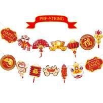 Chinese New Year Flag Banner, Year of Rat Garland 2020 Happy New Year Decoration China Party Chinese New Year Sign Banner Party Backdrop Table Background for Photo Booth Props Party Decorations Suppli
