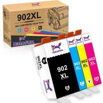 HaloFox Compatible Ink Cartridge Replacement for HP 902XL 902 XL to use with OfficeJet Pro 6968 6978 6958 6962 6954 6960 6970 6979 6950 6975 Printer (Black Yellow Cyan Magenta, 4 Pack)