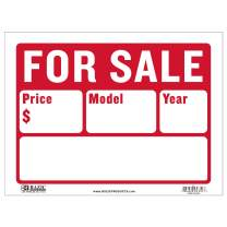 """BAZIC 12"""" X 16"""" for Sale Sign Car Auto Sales (2-Line), Model Year Phone Number, Cars Trucks, Indoor Outdoor Signage, High Visibility Signs (2-Line) (Box of 24)"""