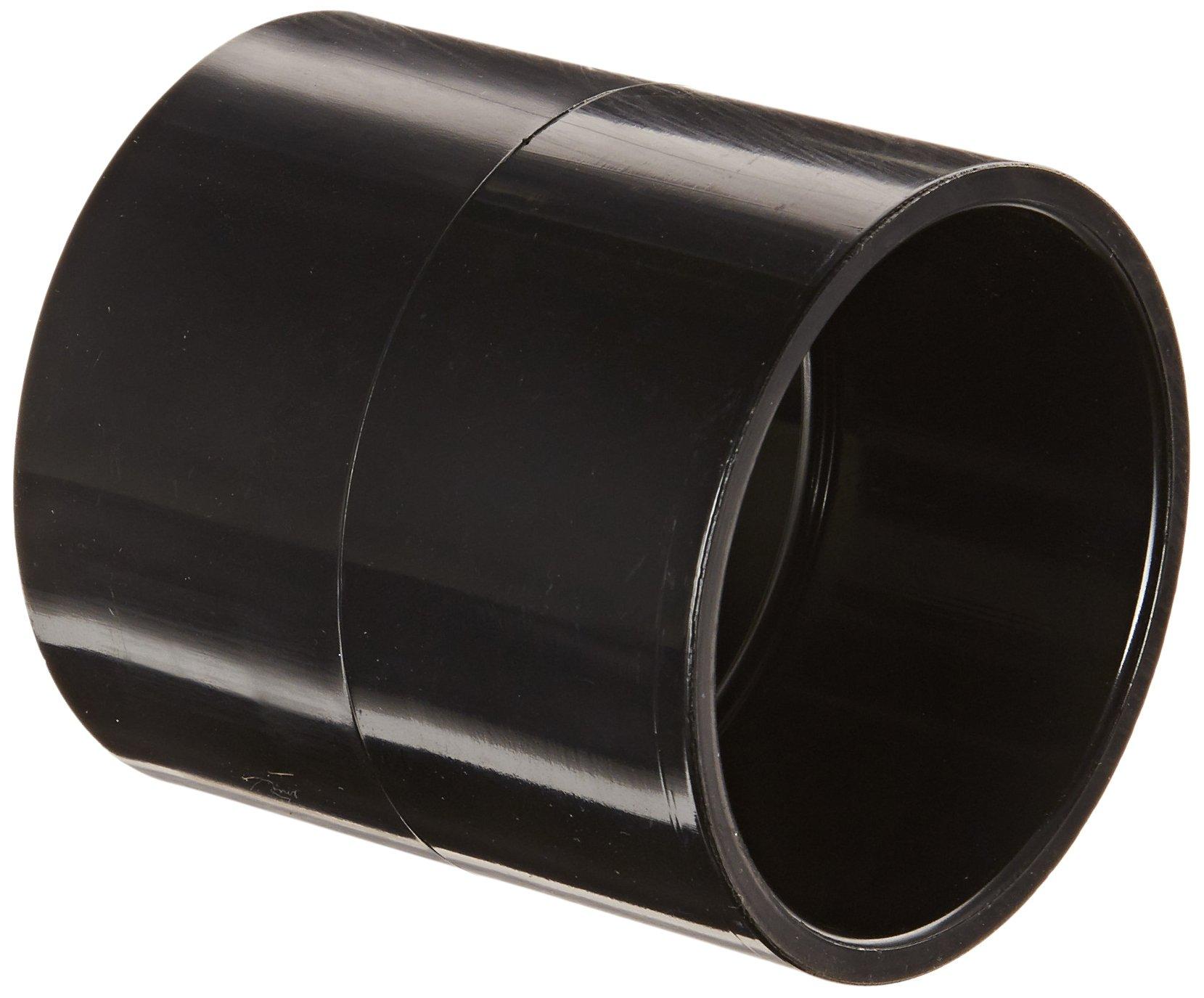"Spears 429-B Series PVC Pipe Fitting, Coupling, Schedule 40, Black, 2"" Socket"