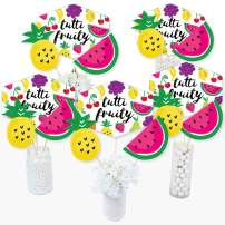 Tutti Fruity - Frutti Summer Baby Shower or Birthday Party Centerpiece Sticks - Table Toppers - Set of 15
