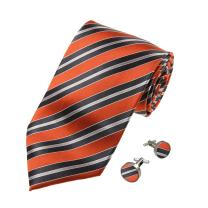 Y&G Men's Fashion Various of Colors Stripes Necktie Rack Gift Mens Silk Tie Cufflinks Set 2PT